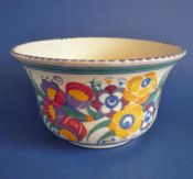 Large Poole Pottery YO Pattern Bowl by Truda Carter c1930